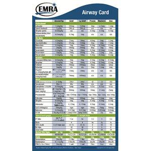 EMRA Airway Card