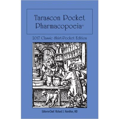 Tarascon Pocket Pharmacopoeia 2017 Shirt Pocket 18th Ed. (AMAZON)