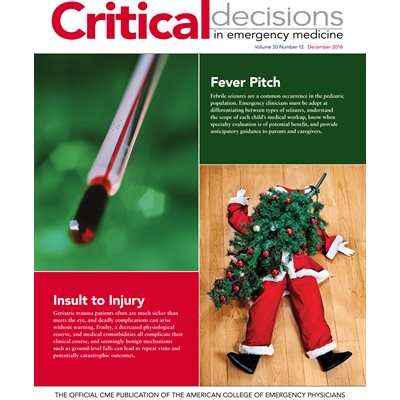 Critical Decisions In Emergency Medicine Vol 30 Issue 12 December 2016