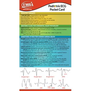EMRA Pediatric ECG Card