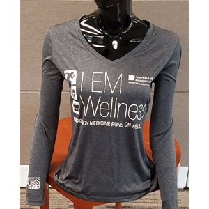 "Ladies ""Wellness"" V-Neck Long Sleeve T-Shirt - LARGE"