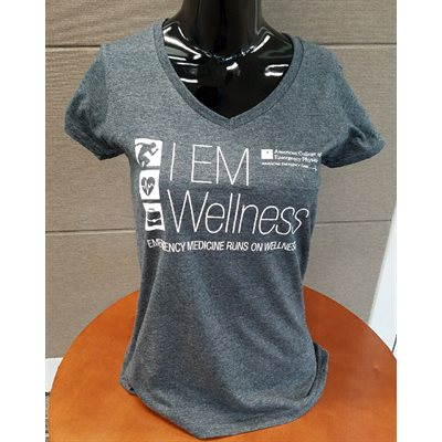 """Wellness"" V-Neck T-Shirt Ladies SMALL"